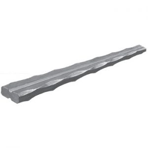 20 x 8mm Hammered Edge and Grooved Bar 3000mm Long 5 2c