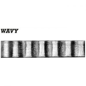 30 x 10mm Wavy Bar 3000mm Long 5 5f