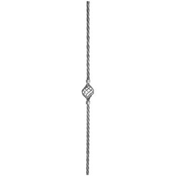 Single Multi Strand Cage on 16mm Diameter Rope Bar 1000mm Long 10 14b