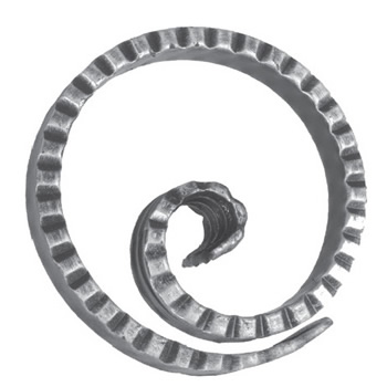 12mm Wide 6mm Thick 125mm Diameter Fishtailed Chisel Ring 18 21at