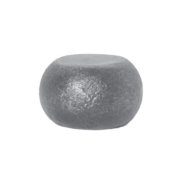 Squashed Solid Steel Ball 55mm Diameter x 35mm High Hot Forged 18 11d