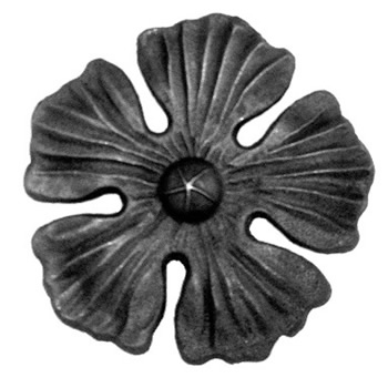 Large forged rosette