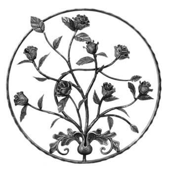 Rose Circular Panel Unpainted 550mm Diameter 40/40a-0