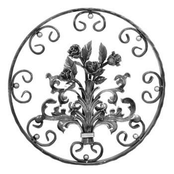 Rose Circular Panel Unpainted 550mm Diameter 40/42a-0