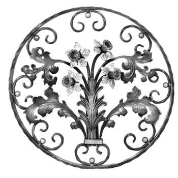 Daffodil Circular Panel Unpainted 550mm Diameter 40/45a-0