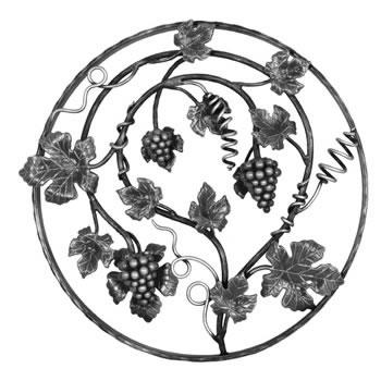 Grape Circular Panel Unpainted 550mm Diameter 40/47a-0