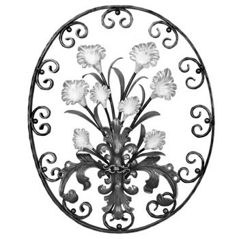 New Lily Oval Unpainted 830mm High 685mm Wide 40/55a-0