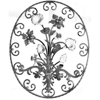 Mixed Oval Unpainted 830mm High 685mm Wide 40/59a-0