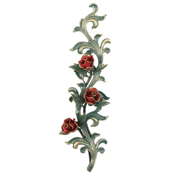 Rose Galvanised and Painted 550mm High 200mm Wide 40 67LHc