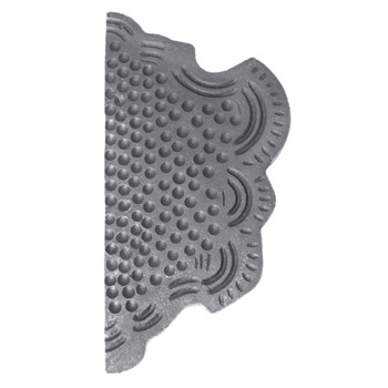 Right Hand Ornamental Lock Plate 280mm High 140mm Wide 6mm Thick 47 2b