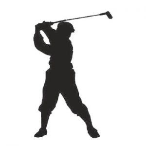 Golfer 300mm High x 180mm Wide x 3mm Thick 52 13