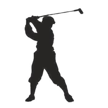 Golfer 300mm High x 180mm Wide x 3mm Thick 52 13