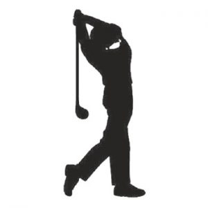 Golfer 300mm High x 130mm Wide x 3mm Thick 52/14-0