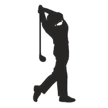 Golfer 300mm High x 130mm Wide x 3mm Thick 52/14-0