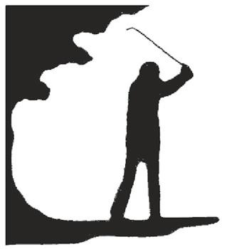 Golfer 215mm High x 200mm Wide x 3mm Thick 53 1