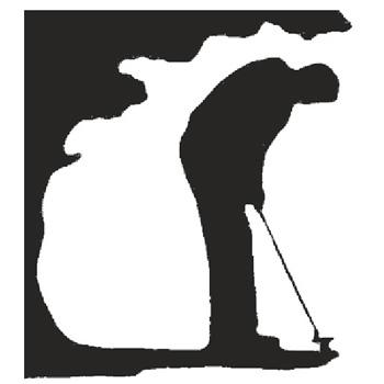 Golfer 225mm High x 205mm Wide x 3mm Thick 53 10