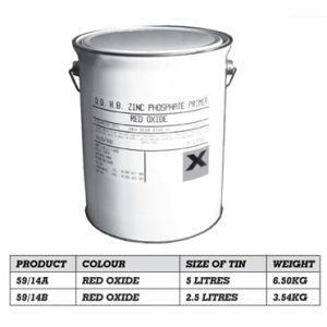 Quick Drying Red Oxide 5 x Litres 59/14a-0