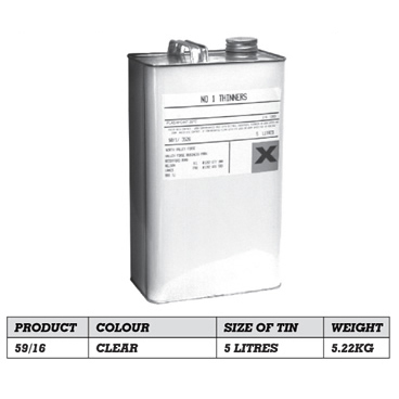 Xylene Thinners 5 Litre For Use With All Listed Paints 59/16-0