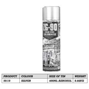 Galvex Hi Zinc Spray 400ml Aerosol 59/19
