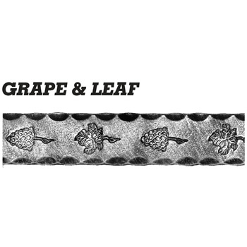 40 x 10mm Grape and Leaf 3000mm Long 6 8a