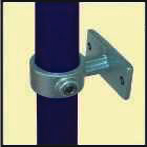 Galvanised Key Clamp Bracket For 42 4mm Outside Diameter Tube Nominal Bore 1 25 inch 60 10a