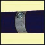 Galvanised Key Clamp Bracket For 42 4mm Outside Diameter Tube Nominal Bore 1 25 inch 60 12a