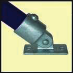 Galvanised Key Clamp Bracket For 42 4mm Outside Diameter Tube Nominal Bore 1 25 inch 60 15a