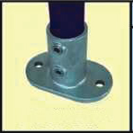 Galvanised Key Clamp Bracket For 42 4mm Outside Diameter Tube Nominal Bore 1 25 inch 60 5a