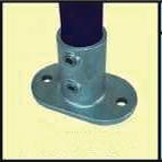 Galvanised Key Clamp Bracket For 48 3mm Outside Diameter Tube Nominal Bore 1 5 inch 60 5b