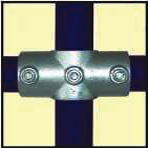 Galvanised Key Clamp Bracket For 42 4mm Outside Diameter Tube Nominal Bore 1 25 inch 60 6a