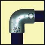 Galvanised Key Clamp Bracket For 42 4mm Outside Diameter Tube Nominal Bore 1 25 inch 60 8a
