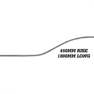 20 x 8mm Wavy Bar 1800mm Long 450mm Rise 8 15a