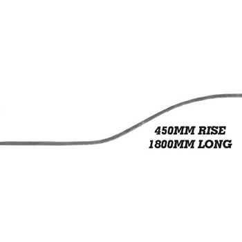 25 x 10mm Wavy Bar 1800mm Long 450mm Rise 8 15c