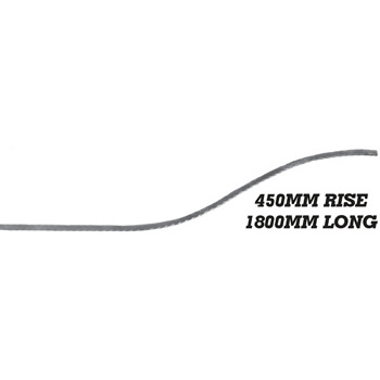 25 x 8mm Forest Bar 1800mm Long 450mm Rise 8 15f1