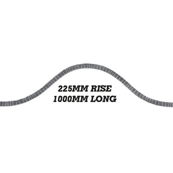 20 x 8mm Wavy Bar 1000mm Long 225mm Rise 8 16a1
