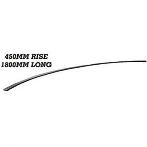 25 x 10mm Wavy Bar 1800mm Long 450mm Rise 8 18j