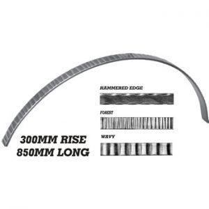 25 x 10mm Wavy Bar 850mm Long 300mm Rise 8 20j