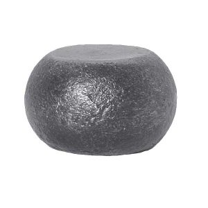 Squashed Solid Steel Ball 80mm Diameter x 50mm High Hot Forged 18 11f